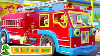 Fire Truck Song | Wheels on the Bus \u0026 More Kids Rhymes by Little Treehouse