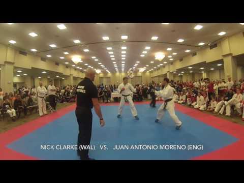 WKU WORLD CHAMPIONSHIP 2016 USA KKMV -80KG NICK CLARKE (WAL)  VS. JUAN ANTONIO MORENO (ENG)