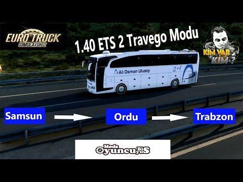 1.40 ETS 2 OTOBÜS MODU / TRAVEGO SE 17-SHD-2015 / SAMSUN - ORDU - TRABZON