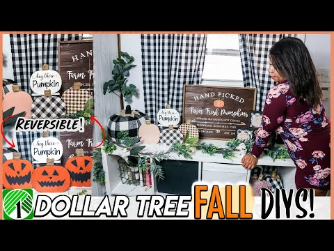 Easy FALL DIY DOLLAR TREE IDEAS YOU MUST TRY! Dollar Store DIYS 2019 | Sensational Finds