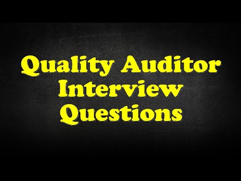 Quality Auditor Interview Questions - YouTube