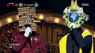 [King of masked singer] 복면가왕 - 'Are you Mask King?'vs'land owner' 1round - White Winter 20170219