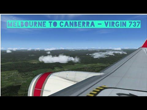 Melbourne to Canberra - Virgin 737