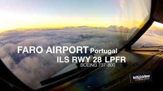 Аэропорт Фару (Португалия), Faro Airport (Portugal) approach ILS runway 28
