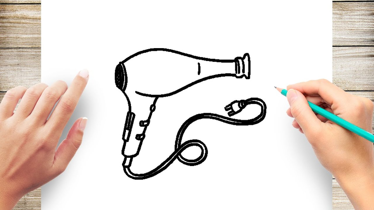 How To Draw Hair Dryer Youtube