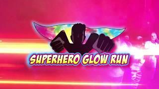 Six Flags Great America Superhero Glow Run