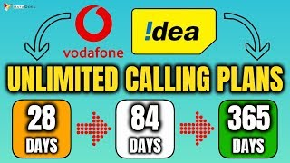 Unlimited Calling Plans for Vodafone And Idea Users with Unlimited Data & 365 Days Validity