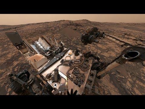 NASA's Curiosity Mars Rover on Vera Rubin Ridge (360 View)
