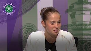 Jelena Ostapenko Wimbledon 2017 quarter-final press conference