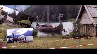 Wicky -Dorf  Film am Walchensee bei Dreharbeiten Orginal