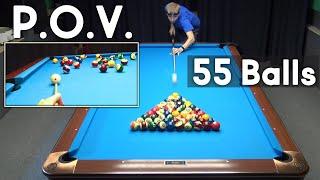 55 Balls Rack!!! Can I Sink All 55 Balls?! POV GoPro Billiard Drill