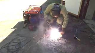 видео Cварочный бензиновый генератор