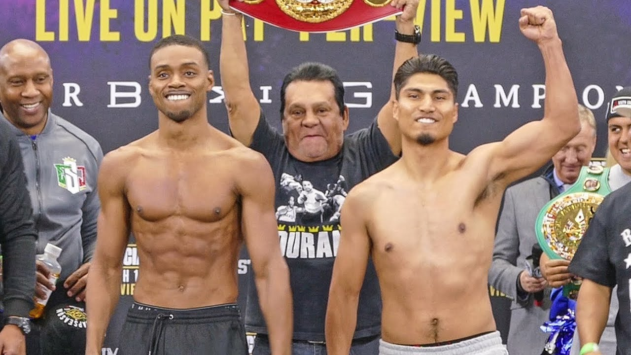 Errol Spence Jr vs. Mikey Garcia FULL WEIGH IN & FINAL FACE OFF