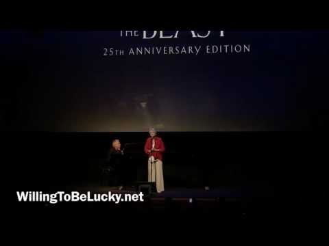 Dame Angela Lansbury sings Beauty and the Beast at the 25th Anniversary Screening
