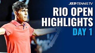 Andujar Eliminates Verdasco; Alcaraz Dazzles in Debut | Rio 2020 Day 1 Highlights