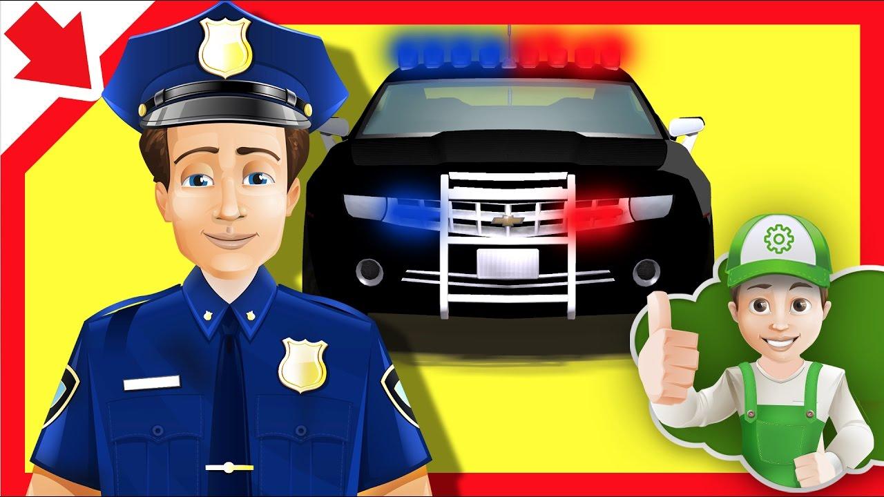 Coches de polica en espaol Carros policias animados