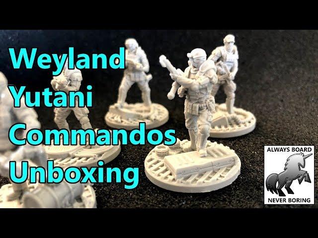 Unicast Weyland-Yutani Commandos Miniatures Unboxing & Review (AvP: The Hunt Begins)