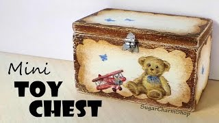 Miniature Furniture; Cute Toy Chest - Dolls/dollhouse