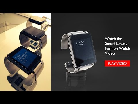 White Gold Fashion de Luxe LG Smart Watch by Luxius Suisse - www.luxius.com -