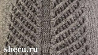 Супер стильный свитер спицами Урок 154 часть 2 из 2
