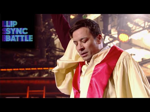 Jimmy Fallon vs Dwayne Johnson Fighting In A Lip Sync Battle