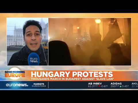 Hungary Protests: Thousands march in Budapest against 'Slave