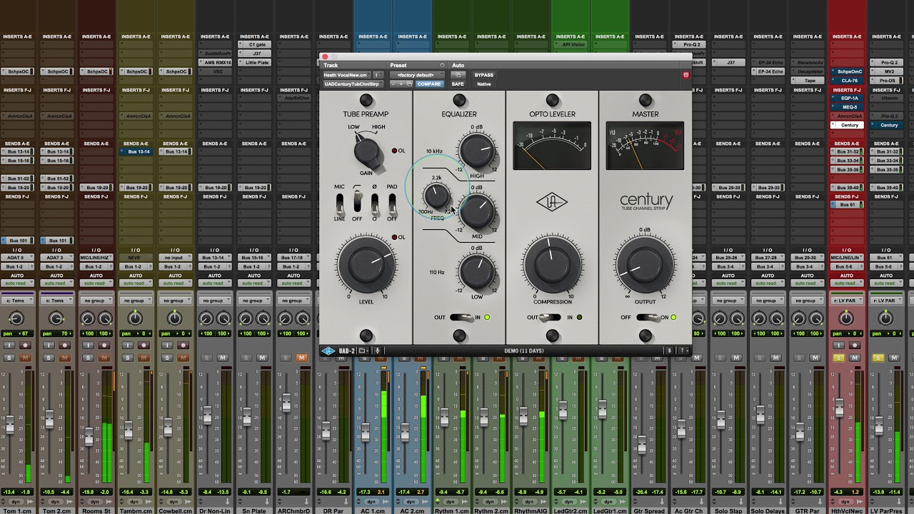 Universal Audio - Century Tube Channel Strip - Mixing With