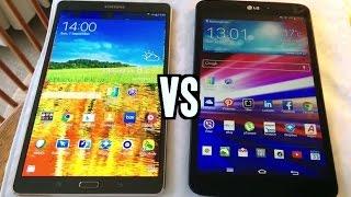 Samsung Galaxy Tab S VS LG G Pad