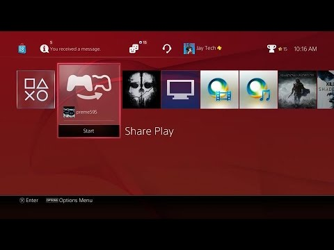 how to use share play ps4