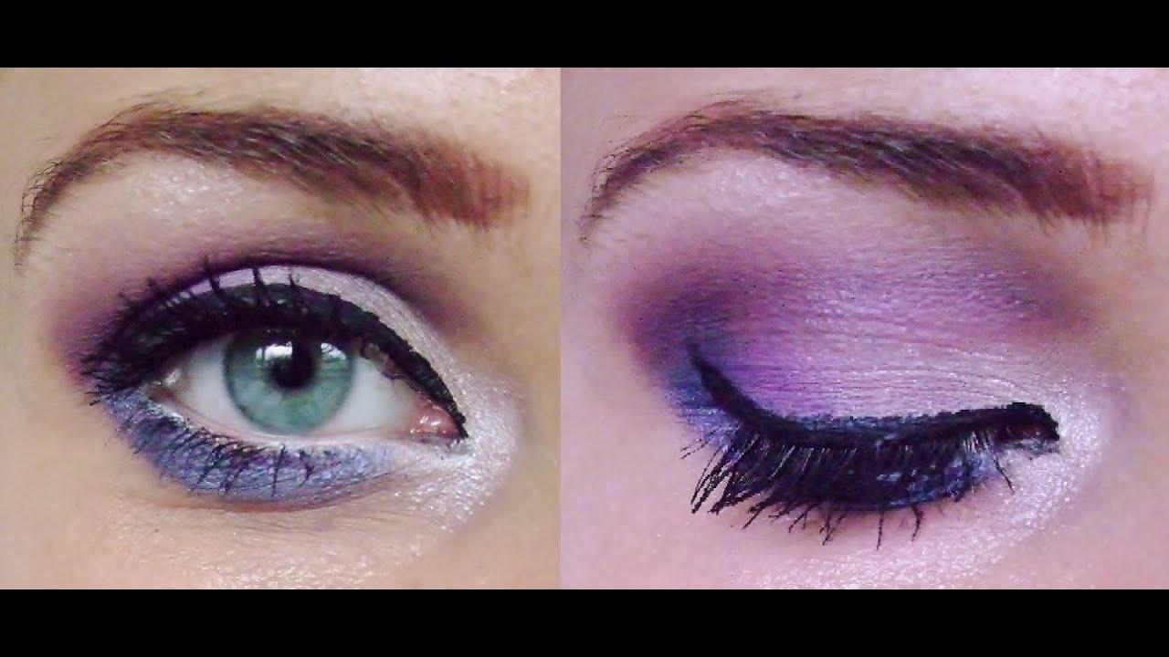 Date Night Purple Violet Lila Smokey Eyes Makeup Tutorial Fur