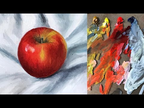 Oil Painting Basics Tutorial For Beginners | Realistic Apple