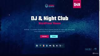 Acidum - DJ, Dance and Disco Night Club and Music WordPress Theme