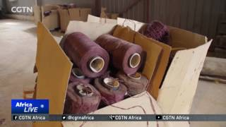 Massive carpet factory in Benghazi reopens after two years 2017 Video