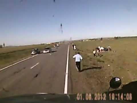 Авария в Республике Хакасия. трасса Абакан-Ак-Довурак