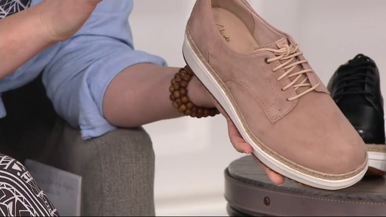 2394bf4e3e2 Clarks Artisan Leather Lace up Shoes - Teadale Rhea on QVC - YouTube