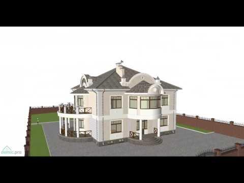 Проект роскошного двухэтажного дома с цокольным этажом F-098-ТП