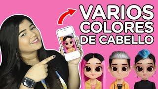 COMO PONER EL CABELLO DE DOS COLORES A LOS YOUTUBERS EN DOLLIFY | ADRIANA SFEIR