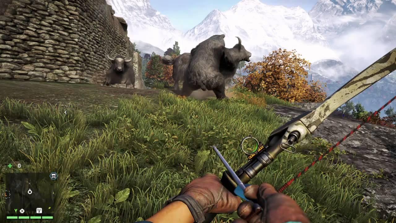 Far Cry 4 Bear Attacks Yak Youtube