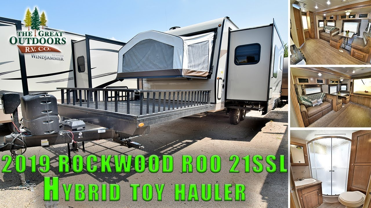 New 2019 Hybrid Rockwood Roo 21ssl Toy Hauler Rv Travel Trailer Front Deck Colorado S