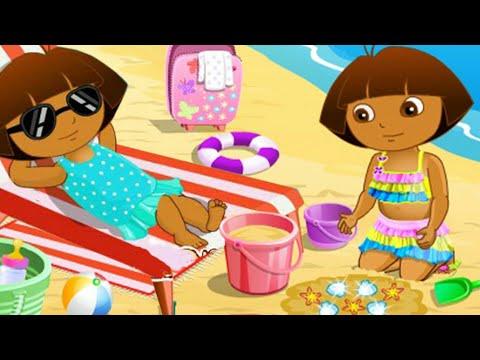Даша путешественница !  На пляже ! Новые серии 2017