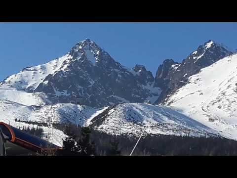 Ski slopes of High  Tatras near Lomnicky Stit, Slovakia. Land of large carnivores