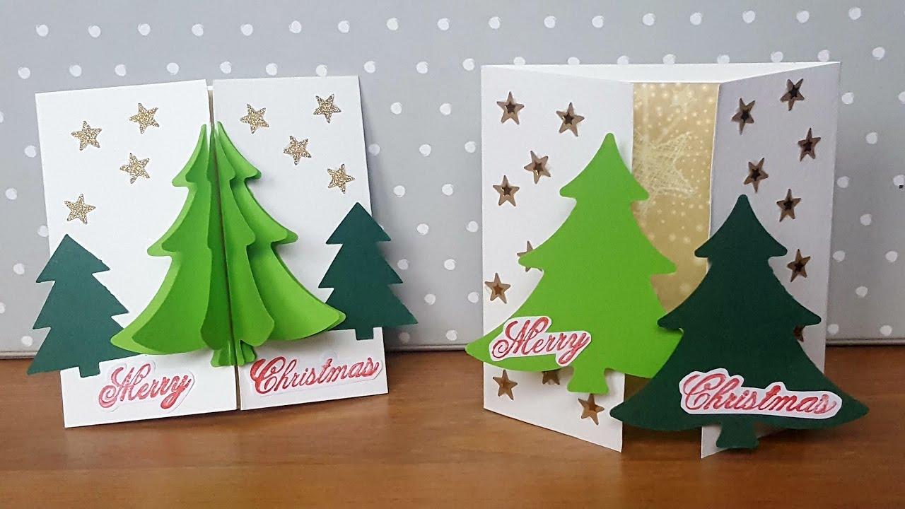 3d weihnachtsbaum karte basteln