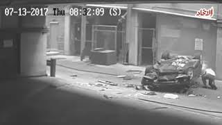 لحظة سقوط سيارة من الطابق السابع | صحيفة الاتحاد