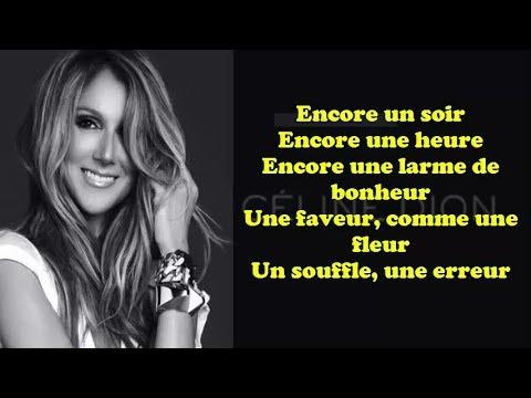 Encore Un Soir Celine Dion Lyric Paroles