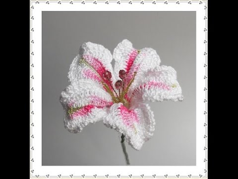 Crochet Snowdrop Flower Pattern Tutorial : Crochet Carnation Flower: Type 1 Tutorial Doovi