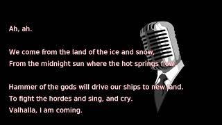 Led Zeppelin - Immigrant Song (lyrics)