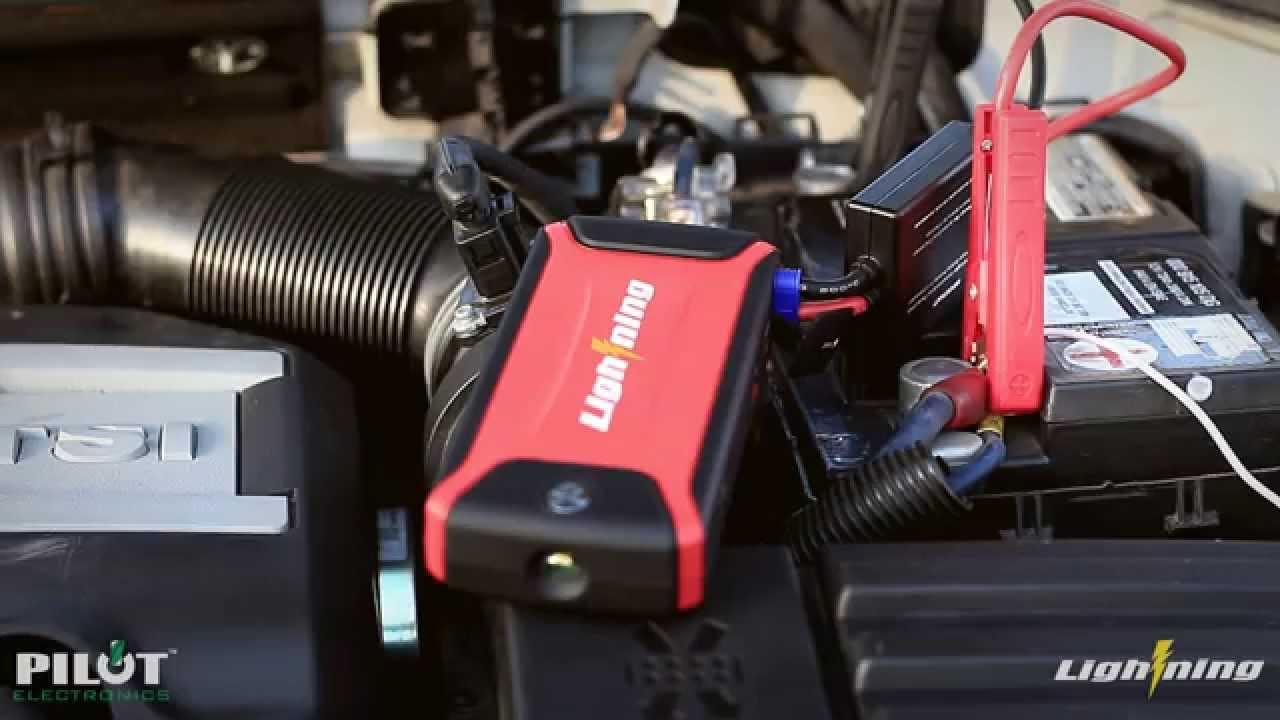 Rockford 12 Volt Mini Portable Power Source/Jump Starter ...  |Power Source Jump Starter Lightning