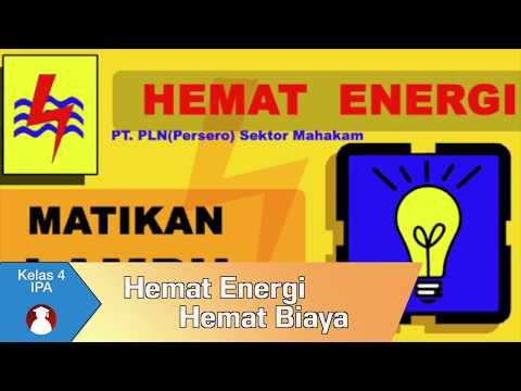 Kelas 04 Tema 9 Subtema 1 Ipa Hemat Energi Hemat Biaya Video Pendidikan Indonesia Youtube