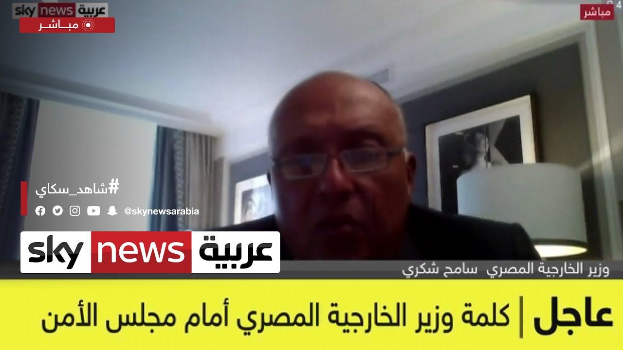 كلمة وزير الخارجية المصري بمجلس الأمن  - نشر قبل 2 ساعة