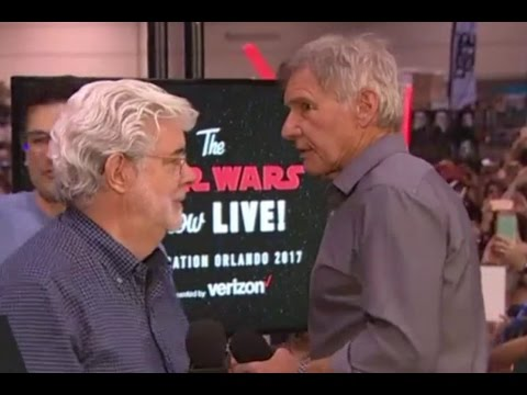 Harrison Ford and George Lucas   Star Wars Celebration 2017 Orlando